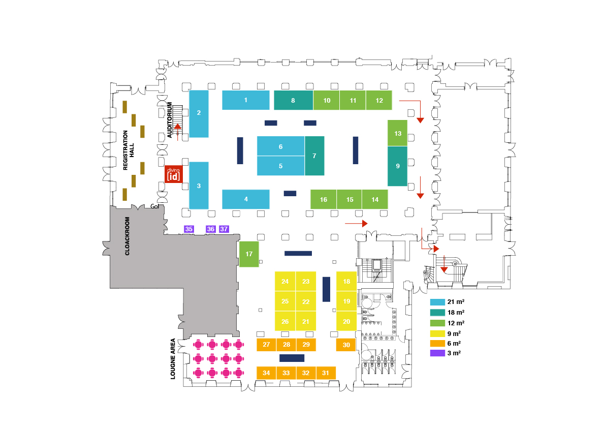 Main exhibition hall (groud floor)